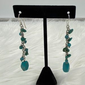 Vintage Silver & Turquoise long earrings